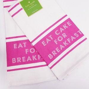 "Kate Spade ""Eat Cake for Breakfast"" Kitchen Towel"